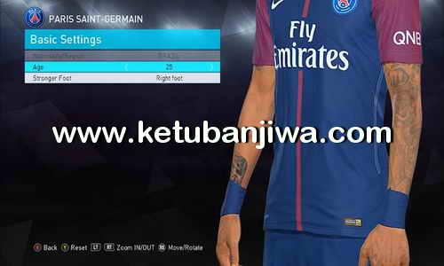 PES 2018 Neymar Tattoo For DLC 1.0 Faces Ketuban Jiwa