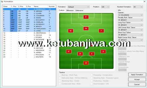 PES 2018 Team Editor Manager 3.5.1 Tool by Lagun-2 Ketuban Jiwa