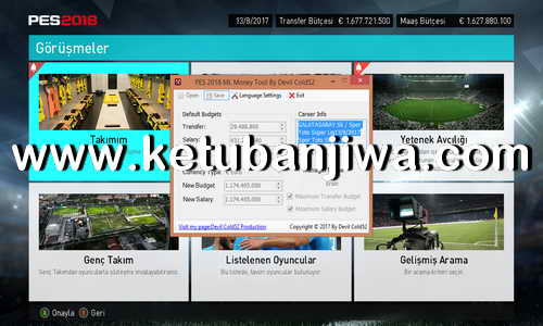 PES 2018 Master League ML Money Tool v1 For PC by Devil Cold52 Ketuban Jiwa