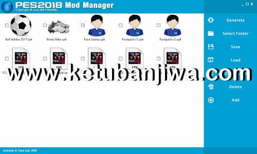 PES 2018 Mod Manager BETA Version by MES Modder Ketuban Jiwa