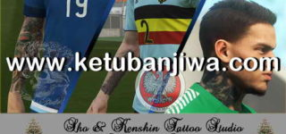 Download PES 2018 Kenshin & Sho Tattoopack Vol.1 Ketuban Jiwa
