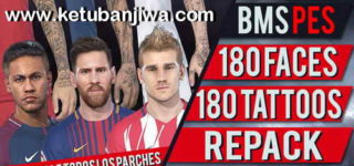 PES 2018 180 Faces + Tattoos Repack by bmS Ketuban Jiwa