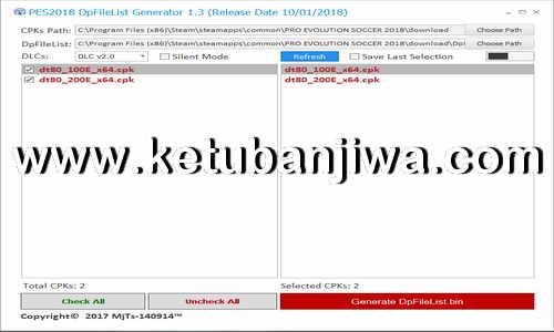 Download PES 2018 DpFileList Generator v1.3 Final Version by MjTs-140914 Ketuban Jiwa