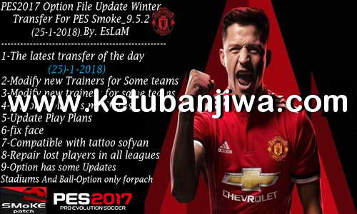 PES 2017 Option File Winter Transfer Update 25 January 2018 For SMoKE Patch 9.5.2 by EsLaM Ketuban jiwa