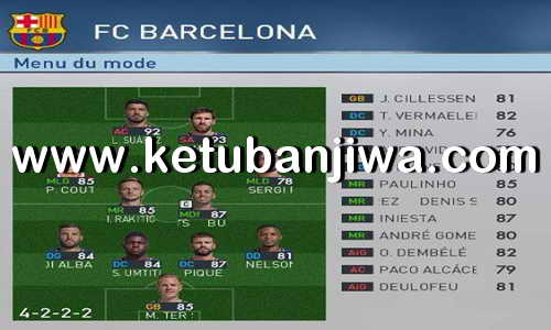 PES 2017 Option File Winter Transfer Update 28 January 2018 For PES Professionals Patch v4.1 by Djamelahmed Ketuban Jiwa