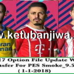 PES 2017 SMoKE Patch 9.5.2 Option File Update 01/01/2018