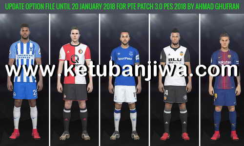 PES 2018 PTE 3.0 Option File Transfer Update 20/01/2018