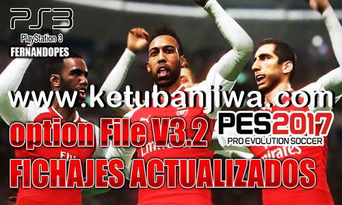 PES 2017 FernandoPES Option File v3.2 Winter 2018 For PS3 OFW BLES + BLUS Ketuban Jiwa