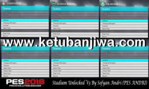 PES 2018 Stadium Unlocked v3 Compatible DLC 3.0 For PC by Sofyan Andri Ketuban Jiwa