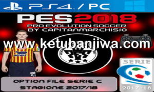 PES 2018 PS4 + PC Option File Serie C v4