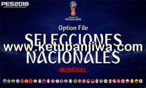PES 2018 PS4 World Cup Russia Option File