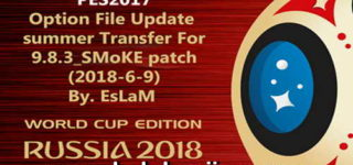 PES 2017 SMoKE Patch 9.8.3 Option File 09/06/2018