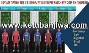 PES 2018 Option File v1 For PTE 4.3 World Cup Russia
