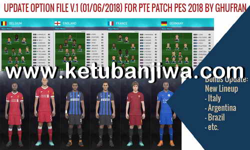 PES 2018 Option File v1 For PTE 4.3 World Cup Russia by Ghufran Ketuban Jiwa