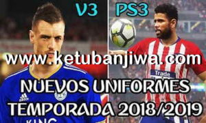 PES 2018 PS3 OFW Kits Pack v3 AIO Season 18/19