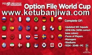 PES 2018 PS4 + PC PESUniverse Option File v4 + World Cup