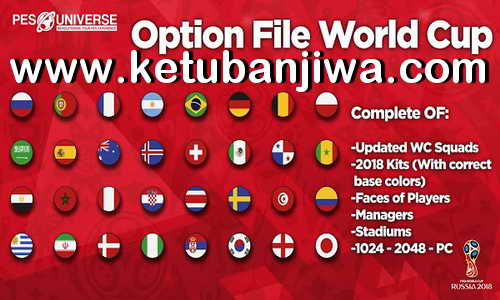 PES 2018 PESUniverse Option File v4 + World Cup Edition For PS4 Ketuban Jiwa