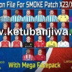 PES 2018 SMoKE Patch X23/X20 Option File + Mega Facepack