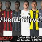 PES 2017 Next Season Patch 2019 Option File 21/08/2018