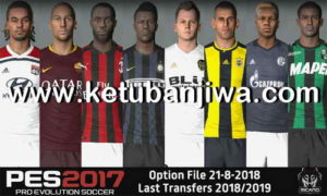 PES 2017 Next Season Patch 2019 Option File 21/08/2018