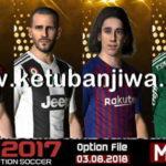 PES 2017 Next Season Patch 2019 Option File 03/08/2018