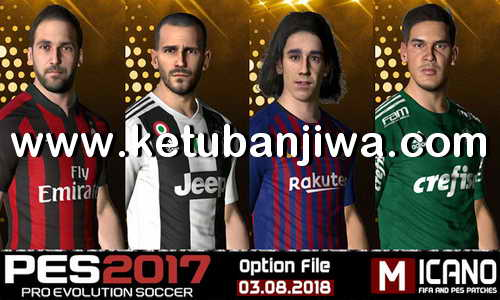 PES 2017 Next Season Patch 2019 Option File Update 03 August 2018 + Facepack by Micano4u Ketuban Jiwa