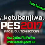 PES 2017 Option File Update 31/07/2018 Professionals 4.4