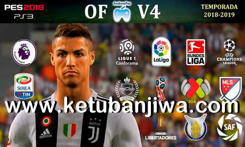 PES 2018 AndrewPes Option File v4 Season 18-19 For PS3 OFW BLES + BLUS Ketuban Jiwa