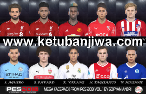 PES 2018 Mega Facepack From PES 2019 Vol. 1