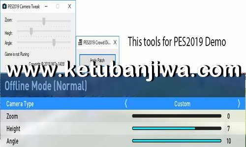 PES 2019 Demo Camera Tweak + Crowd Disabler Tools by MjTs-140914 Ketuban Jiwa