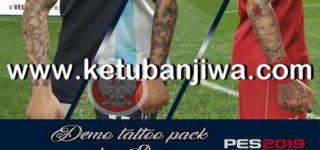 PES 2019 Demo Tattoos Pack For PC by Sho Ketuban Jiwa