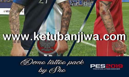 PES 2019 Demo Tattoos Pack For PC by Sho Ketuban Jiwa