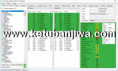 PES 2019 DinoTem Editor19 Tools Test 1 by Lagun-2 Ketuban Jiwa