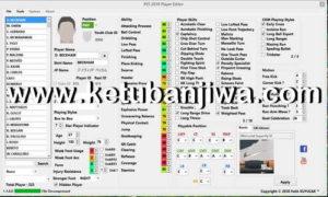 PES 2019 Player Editor Tool v1.1 by Fatih Kuyucak Ketuban Jiwa