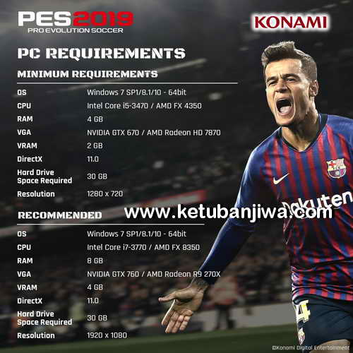 PES 2019 System Recuirements For PC Ketuban Jiwa