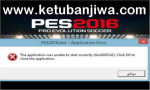PES 2016 Fix 0xc0000142 Error After Install Patch