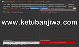 PES 2019 DpFileList Generator Tool v1.2 by MjTs-140914 Ketuban Jiwa