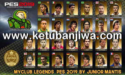 PES 2019 PS4 MyClub Legends Offline v3 by Junior Mantis Ketuban Jiwa
