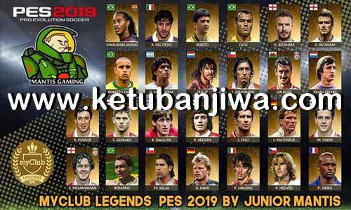 PES 2019 PS4 MyClub Legends Offline v3 by Junior Mantis Ketuban Jiwa