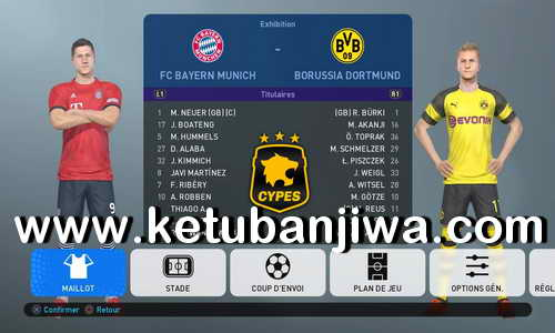 PES 2019 PS4 + PC CYPES Option Files - Patch v2.0 Update Ketuban Jiwa