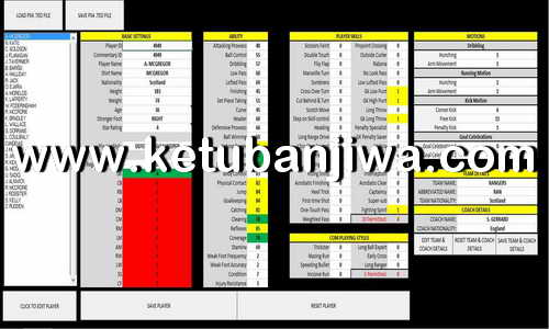 PES 2019 PS4 Tool Editor v1.1 by SMcCutcheon Ketuban Jiwa