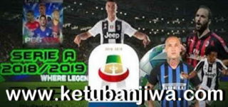 PES 2018 PS3 Serie A TIM Team Export Season 2019