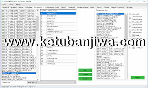 PES 2019 DinoTem19 Tool Editor Version 1.2.0.0 by Lagun-2 Ketuban Jiwa