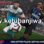 PES 2019 PTE Patch 1.2 Option File Update 18 October 2018