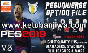 PES 2019 PESUniverse Option File v3 AIO