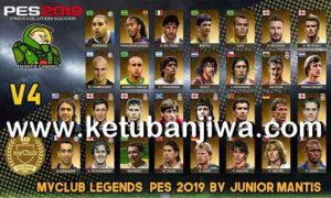 PES 2019 PS4 MyClub Legends Offline v4 by Junior Mantis Ketuban Jiwa