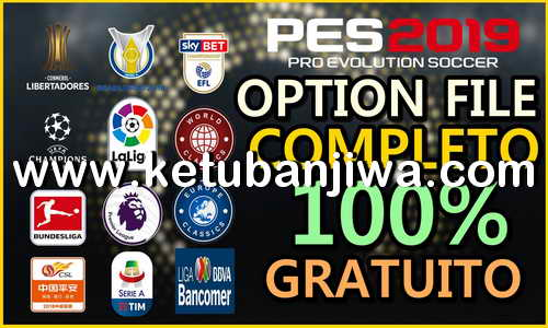 PES 2019 PesVícioBR Option File v5 AIO For PS4 + PC Ketuban Jiwa