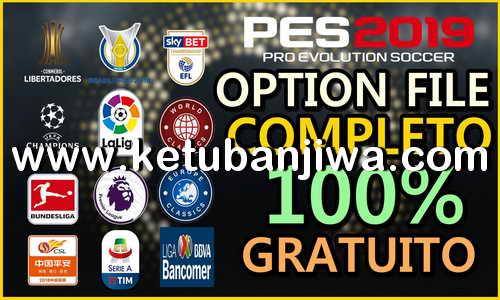 PES 2019 PS4 + PC Pes Vício BR Option File v5 AIO