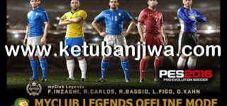 PES 2016 PS3 MyClub Legends Offline Mode by Junior Mantis Ketuban Jiwa