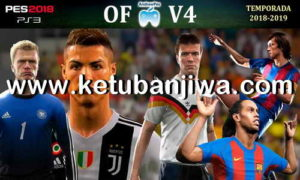 PES 2018 AndrewPes Option File v4 + Legends MyClub For PS3 OFW BLES + BLUS Ketuban Jiwa